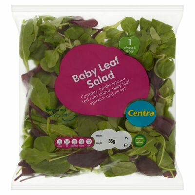 CENTRA BABY LEAF SALAD BAG 85G