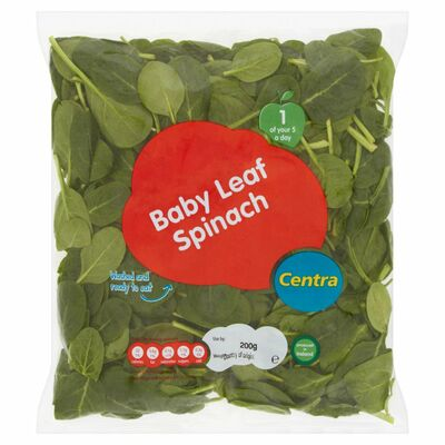 CENTRA WASHED BABY LEAF SPINACH 200G