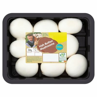 CENTRA IRISH BUTTON MUSHROOM 200G