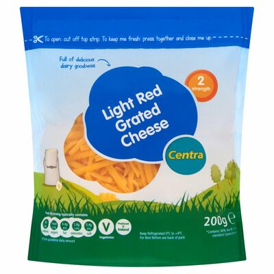 Centra Light Grated Cheddar Cheese 200g