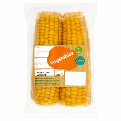 CENTRA SWEETCORN LONG LIFE PACK 2PCE
