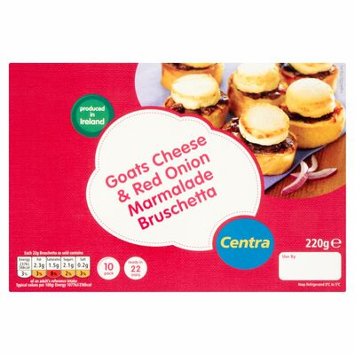 Centra 10 Goats Cheese Bruschetta 220g