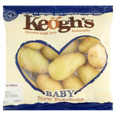KEOGHS BABY NEW POTATOES 750G