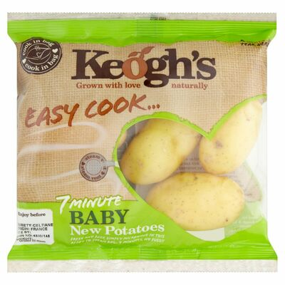 KEOGHS EASY TO COOK BABY NEW POTATOES 400G