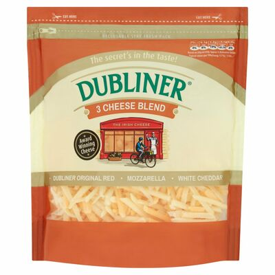 Dubliner Grated 3 Cheese Blend 200g