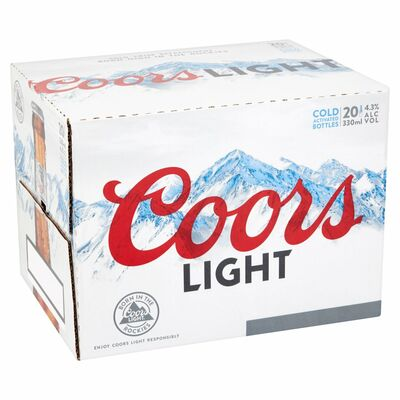 Coors Light Bottle Pack 20 x 330ml