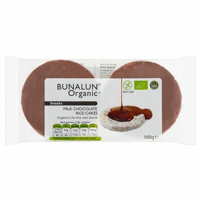 Bunalun Organic Rice Cakes Chocolate 100g