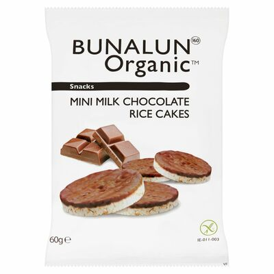 Bunalun Organic Mini Rice Cakes Chocolate 60g