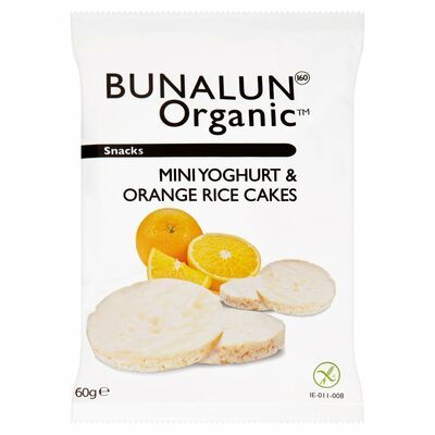 Bunalun Organic Mini Rice Cakes Yoghurt & Orange 60g