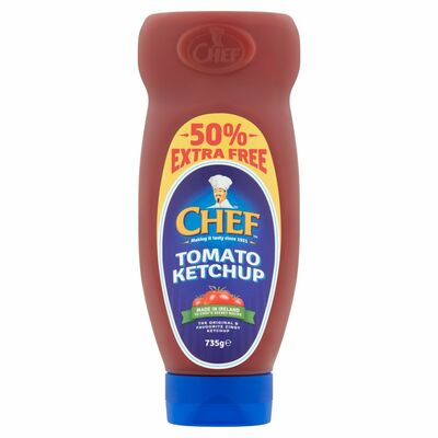 Chef Ketchup + 50% Extra Free 490g