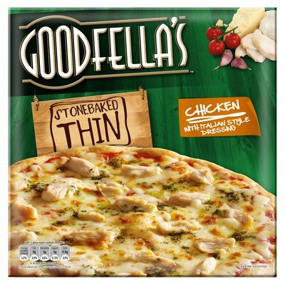Goodfella's Stonebaked Thin Chicken With Italian Style Dressing 355g