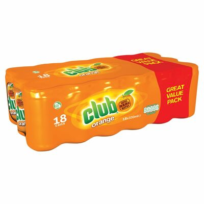 Club Zero Orange Can Pack 18 x 330ml