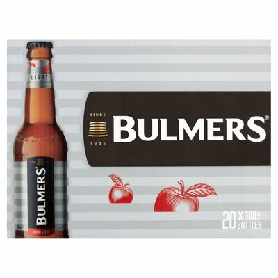 BULMERS LIGHT BOTTLE PACK 20 X 300ML