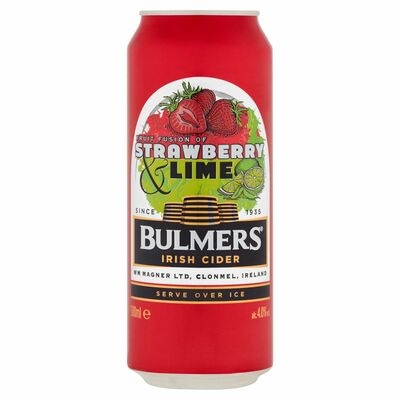 Bulmers Strawberry & Lime Can 500ml