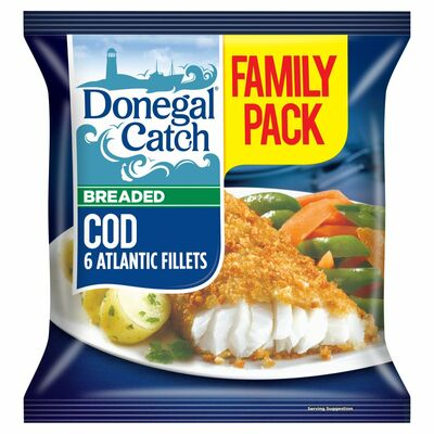 Donegal Catch Family Pack Breaded Cod 550g