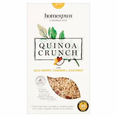 Homespun Quinoa Goji Berry Cashew & Coconut 275g