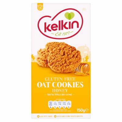 Kelkin Gluten Free Oat Cookies With Honey 150g