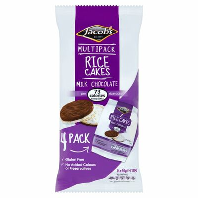 Jacob's Milk Chocolate Twin Rice Cake 120g