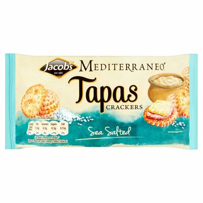 Jacob's Mediterraneo Tapas Crackers Sea Salt 105g
