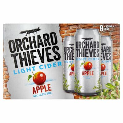 ORCHARD THIEVES LIGHT CAN PACK 8 X 500ML