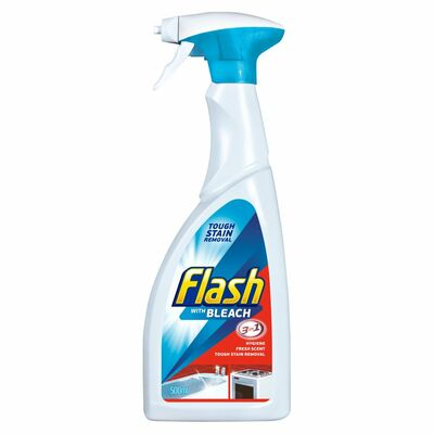 Flash With Bleach 3 In 1 Cleaner Spray 500ml