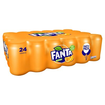 Fanta Orange Can Pack 24 x 330ml