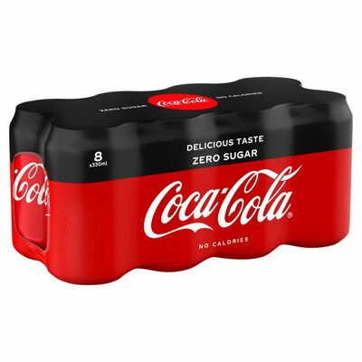 COCA-COLA ZERO CAN PACK 8 X 330ML