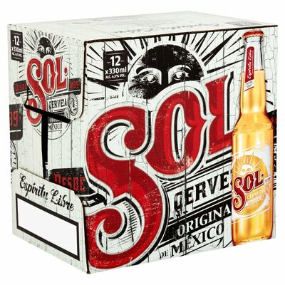 SOL BOTTLE PACK 12 X 330ML