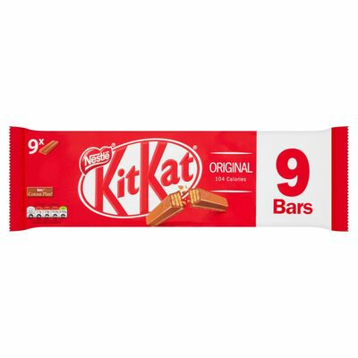 NESTLÉ KITKAT MILK CHOCOLATE 2 FINGER 9 PACK 186G
