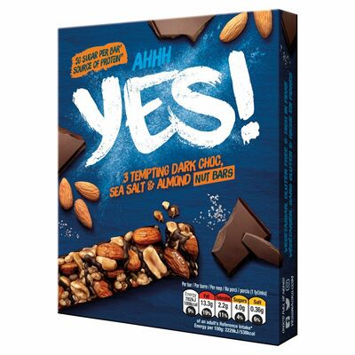 Nestlé Yes! Sea Salt & And Dark Chocolate Bar 3 Pack 105g