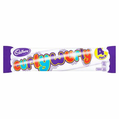 Cadbury Curly Wurly 4 Pack 104g