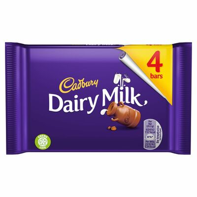 Cadbury Dairy Milk 4 Pack 117g