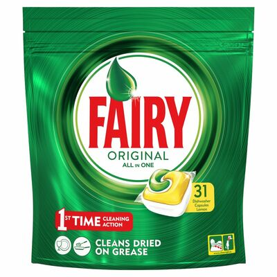 Fairy All In One Dishwasher Tablet Lemon 31pce