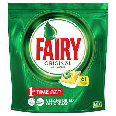Fairy Original All In One Dishwasher Tablets Lemon 61pce