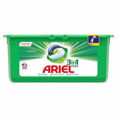 Ariel 3In1 Regular Pods 25 Wash