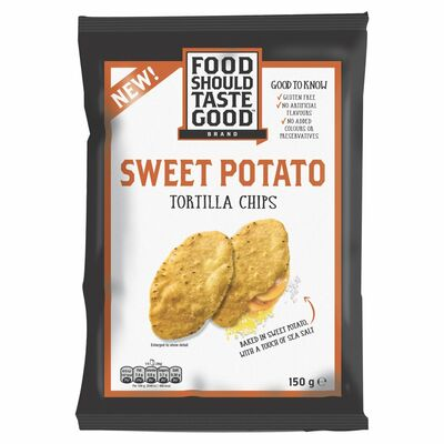 Food Should Taste Good Sweet Potato Tortilla Chips 150g