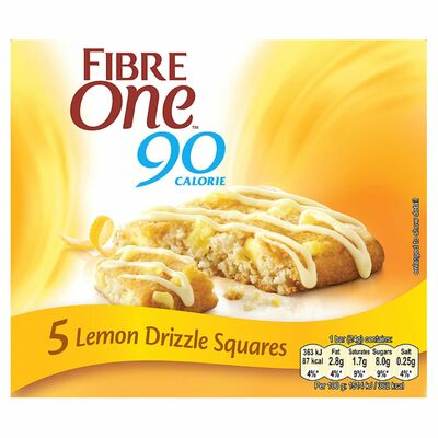 Fibre One Lemon Drizzle Bars 120g