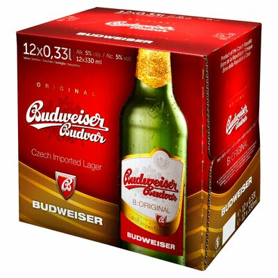 Budejovicky Budvar Bottle Pack 12 x 330ml