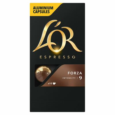 L'Or Espresso Forza Intensity 9 Capsules 10 Pack 50g