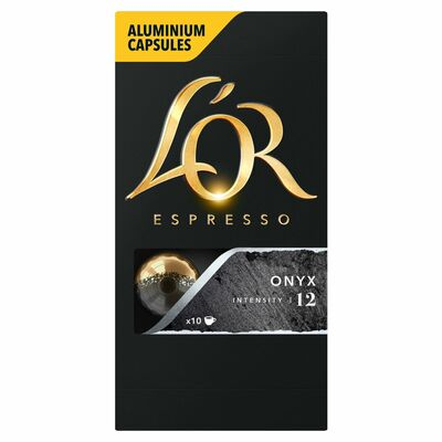 L'Or Espresso Onyx Intensity 12 Capsules 10 Pack 52g