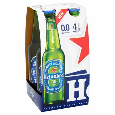 Heineken 0.0 4 Bottle Wrap Pack 330ml