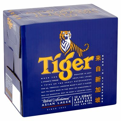 TIGER BOTTLE PACK 12 X 330ML