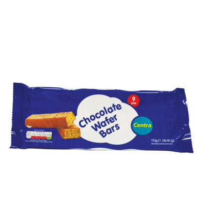 Centra Chocolate Wafer Bars 9 Pack 171g