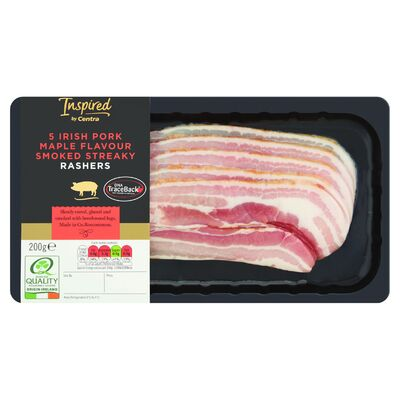 INSPIRED BY CENTRA MAPLE SMOKD STREAKY RASHER 200G