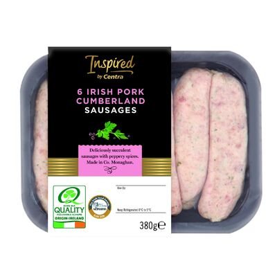 INSPIRED BY CENTRA PORK CUMBERLAND SAUSAGES 380G