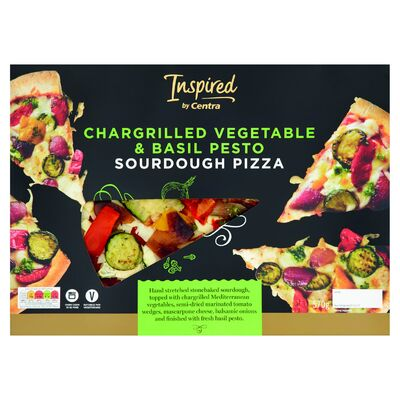 Inspired by Centra Chargrilled Vegetable & Basil Pesto Sourdough Pizza 570g