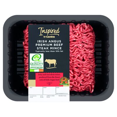 INSPIRED BY CENTRA IRISH ANGUS ROUND STEAK MINCE 400G