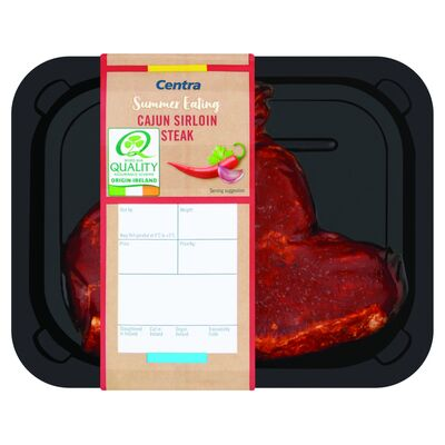 CENTRA FRESH IRISH CAJUN SIRLOIN STEAK 200G