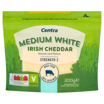 Centra Cheddar Cheese White 200g