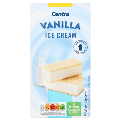 Centra Pint Block Vanilla Ice Cream 568ml